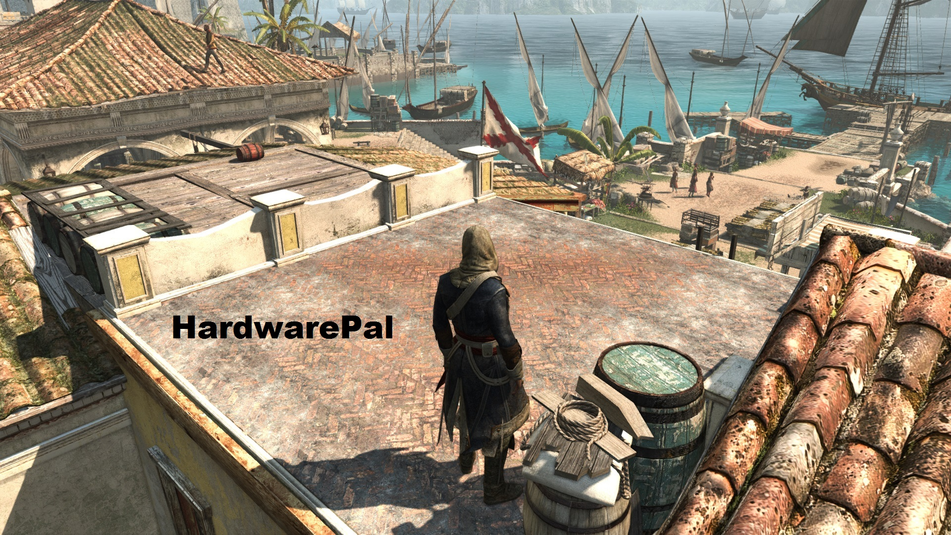 AC4 In Game Screenshot on Roof