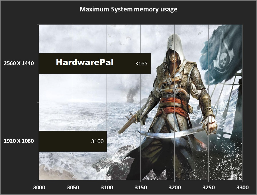 Black Flag Maximum System Memory Usage