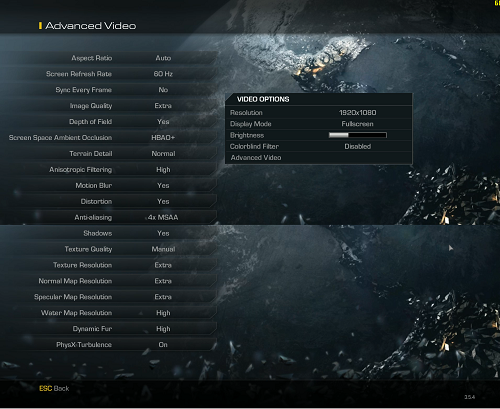 COD ghosts settings