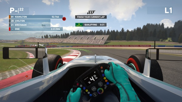 F1 2014 Cockpit View