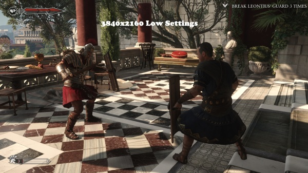 Ryse Son of Rome 3840x2160 Low Settings