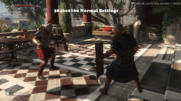 Ryse Son of Rome 3840x2160 normal  Settings