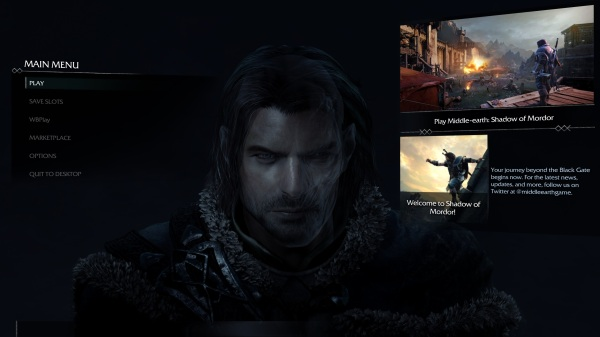 Shadow Of Mordor Main Menu