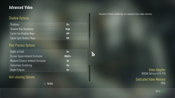 COD Advanced Warfare Advanced Video Menu 2