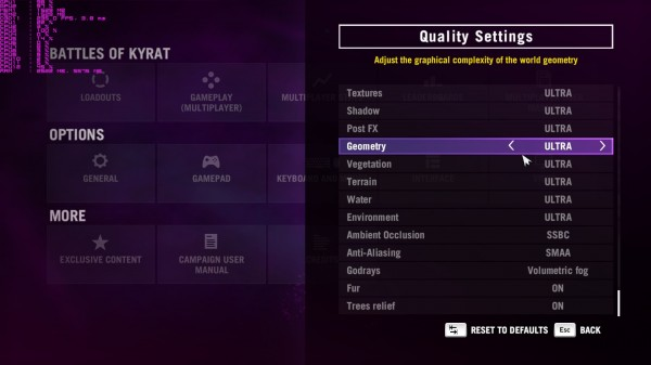 Far Cry 4 Graphics Quality Settings