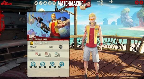 Dead Island Epidemic Character Menu