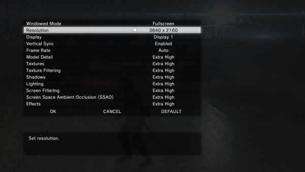 Metal Gear Solid V Ground Zeroes Graphics Menu